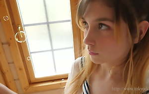 Nice adorable slim sweet Legal age teenager Girl strip be incumbent on you