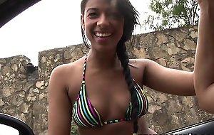 Oyeloca Unskilful latina legal age teenager Susana Pino facialized