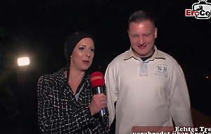 PUBLIC CASTING - unknown alms-man picks German babyhood