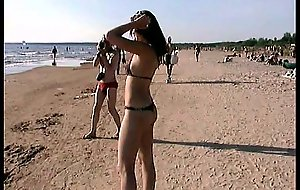Lovely infancy bare their living souls at a nudist beach