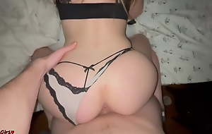 Girlfriend With A Gorgeous Ass Rails A Dick
