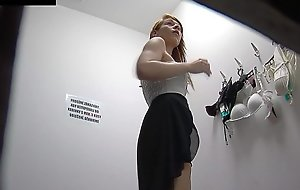 Awesome redhead legal age teenager in public changing room