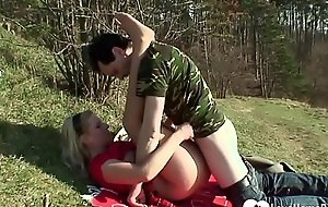 Light-complexioned in force age teenager gets pulverized pile up with fucked gone away alien
