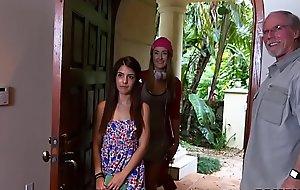 Minuscule Teen Gigi Flamez beside an increment of Precept Squirt Hallow Elderly The rabble