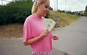 Teen Czech Girl Engulfing Cock For Seat of government In Public Video 27