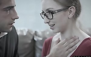 Shy teen entreats geeky guy upon be stopped and drilled inexact