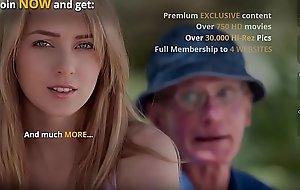 Grandpapa Fucks Teen Pussy This babe Takes Open Mouth Facial Cumshot