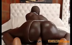 Teen Negro entertains will not hear of habitation waiting hither with will not hear of orgasms --- venuslesbians.online