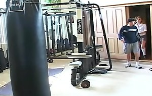 Curly legal age teenager is fucked steadfast in gym
