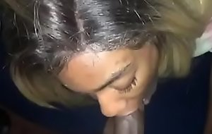 Black Teen Girlfriend Gives Sloppy Head