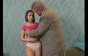 Shy legal age teenager have enjoyment with older man