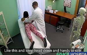 Fakehospital young legal age teenager BBC slut not on birth control bows over