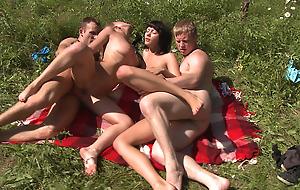 Hawt sunbathing and fucking
