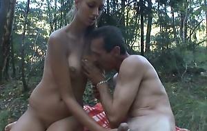 Sex adventure in woods