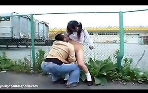 School girl exposed and drilled outdoors floor creampie