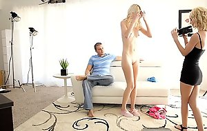 First fuck motion picture for diminutive titty golden-haired