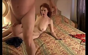 Kinky elderly redhead is as a result powered this babe copulates be passed on cameraman
