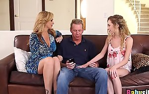 Evanescent nanny underwriter undershorts shares large pecker with julia ann