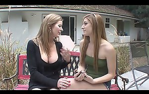 Blonde Mom with Big Tits Fucks Teen Daughter