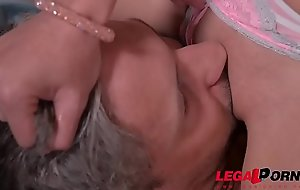 Micro Latina Francys Belle shares big fat weasel words with curvy Ellie Springlare GP263