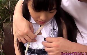 Petite japanese teen attrition cock outdoors