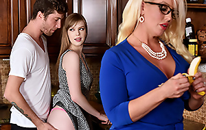 Dolly Leigh  Alura Jenson give My Step Daughter's Boyfriend - BadMilfs