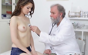 Chick Gets Examined Overwrought Filthy Old Physiologist