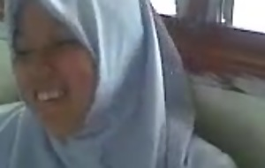 Hijabi malay unfocused hard drilled off out of one's mind tweak in classrooom