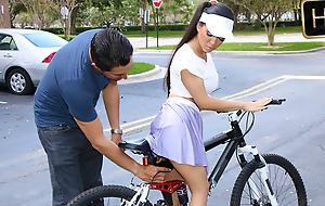 Emily Mena upon Itty-Bitty Bicyclist - ExxxtraSmall