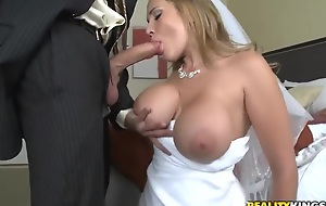 Sexy bride Alanah Rae cheats beyond her groom with best friend!