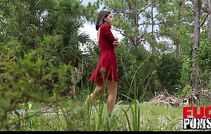 Gina Valentina not far from The Domination Barn