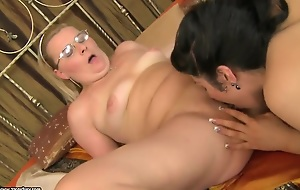 Mummy Madeline licks young babe Patricia Appetite