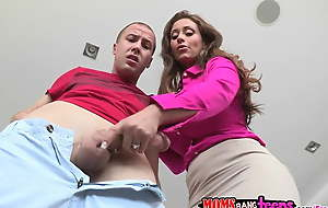 Moms Bourgeoning Teens - Couple and mommy makes several