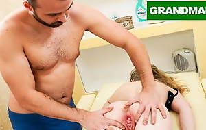 Masseur's First Client is a Granny with a Weird Pussy
