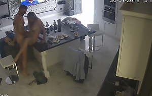 60-01. Young pair sex on kitchen