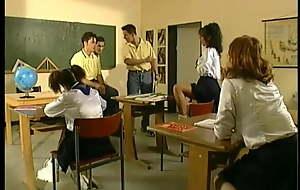 Hot youthful schoolgirls fucked wide of big unending cocks