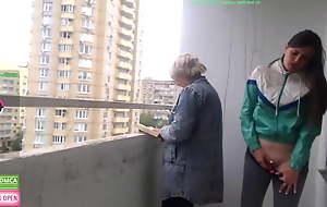 Sexy woman masturbating at the of mom
