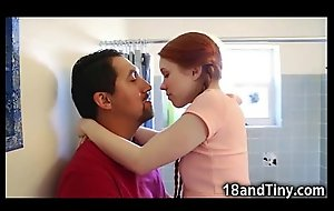 Lawful age teenager ergo laconic that babe got taken hold of by give get deeper one's toilet!