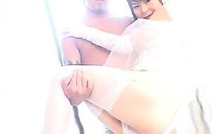 Mayumi wedding dress sweet pussy pounded doggy-style