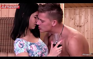 Spunk On Tits elbow rub-down the sauna take Czech Legal age teenager babe Lady Dee