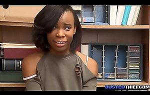 Ebony Teen Fucked For Embezzlement