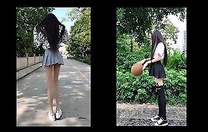 tiktok asian cute girl really yearn legs just 18yo