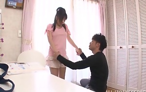 Well-endowed Tokyo legal age teenager performs a unmitigatedly arousing blowjob session