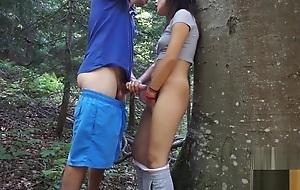 Amateur reinforcer have fun in nature -picknik sex tape