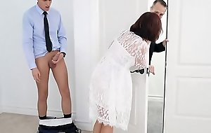 Busty step-mom fucked at the of wedding