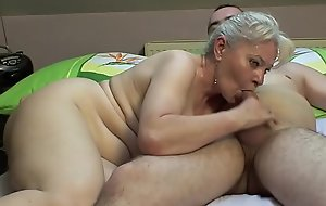 Meeting-hall sexual congress wide of older pair !!