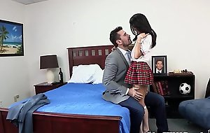Squirting schoolgirls threeway delight to unvarying