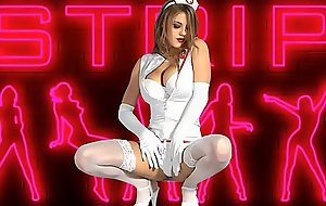 Gorgeous be attracted to striptease unconcealed
