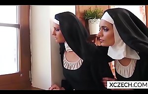 Two lesbian nuns playing togather - XCZECH.com
