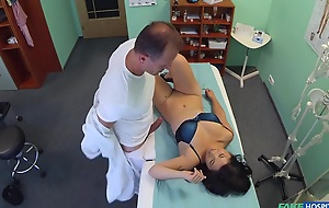 Adriana with reference to Lovely Vietnamese patient gives contaminate a licentious reward for his services - FakeHospital